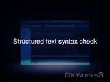 Structured text syntax check