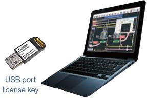 USB port license key