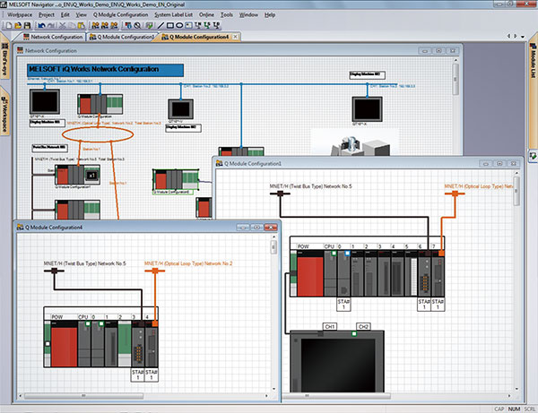 iQ Works Features of the software Programmable Controllers
