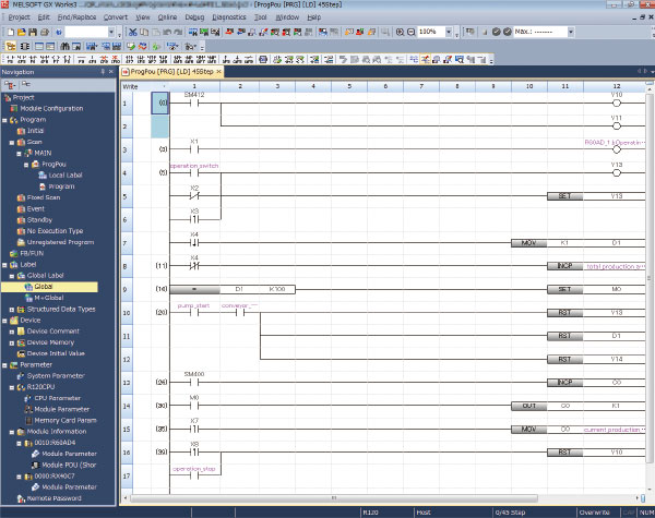 Programmable controller engineering software MELSOFT GX Works3