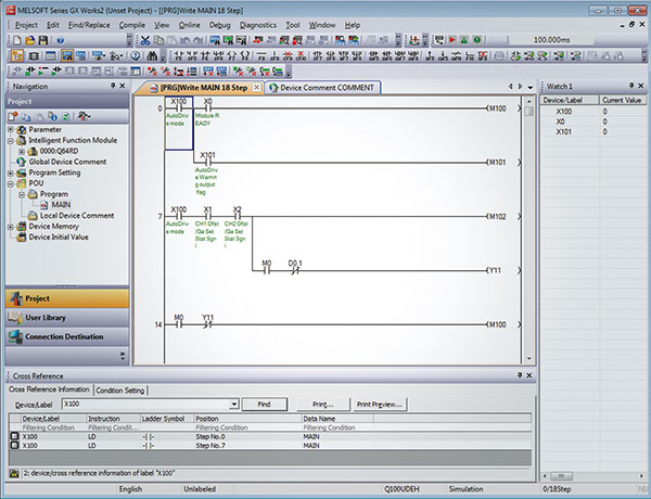 Programmable controller engineering software MELSOFT GX Works2