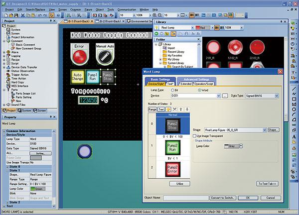 HMI/GOT screen design software MELSOFT GT Works3