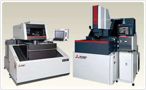 Electrical-discharge Machines : Complicated shapes can easily be manufactured by both first timer and long time users.  Mitsubishi Electric die-sinking EDMs and Wire-cut EDMs enhance productivity with high-speed and high-accuracy machining.  Besides mold making, it is also recognized as a great tool in manufacturing high reliable parts used in aircraft and IT industries.