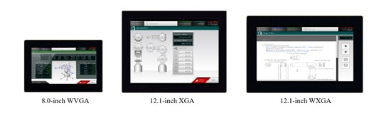 Mitsubishi Electric Color TFT-LCD modules with projected capacitive touch panel