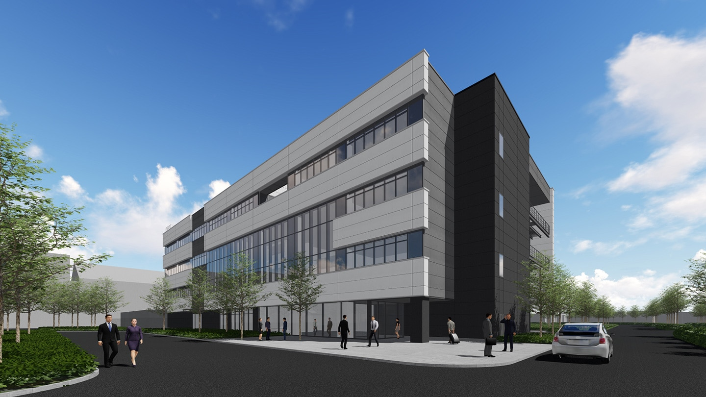 Rendering of Net Zero Energy Building Test Facility