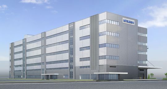 Rendition of new production facility at Nagoya Works