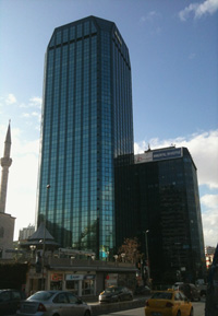 Maya Akar Center, location of Mitsubishi Electric Turkey A.?.