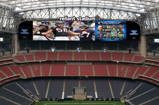 One of Reliant Stadium's Two New Diamond Vision Displays