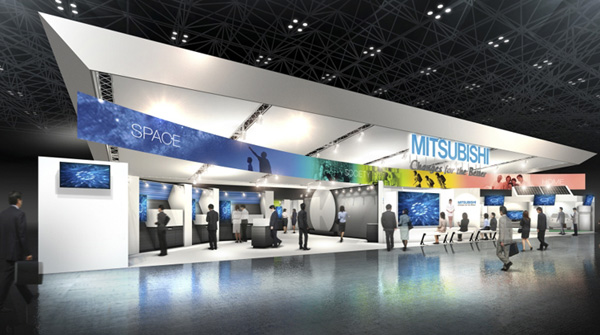 Rendition of the Mitsubishi Electric Booth