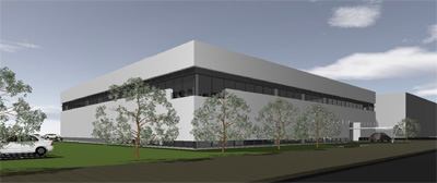 Rendition of new engineering facility