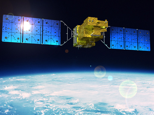 Rendering of GOSAT-2 in orbit