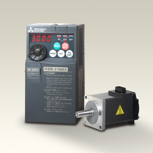 Drive unit (FR-E700EX)& sensor-less motor (MM-GKR)