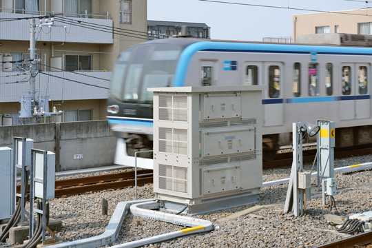 S-EIV<sup>®</sup> installed on end of platform at Myoden station