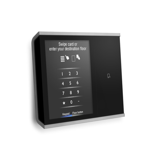 Touch-screen hall panel with card reader