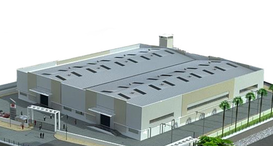 Rendition of envisioned factory in Bengaluru