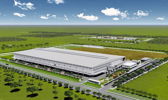 Rendition of new facility of Mitsubishi Electric Consumer Products (Thailand)