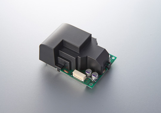 Prototype of Mitsubishi Electric's new air-quality sensor