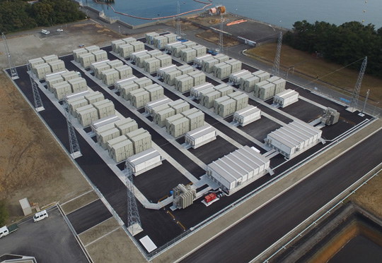 Large-scale energy storage system at Kyushu Electric Power's Buzen Power Station
