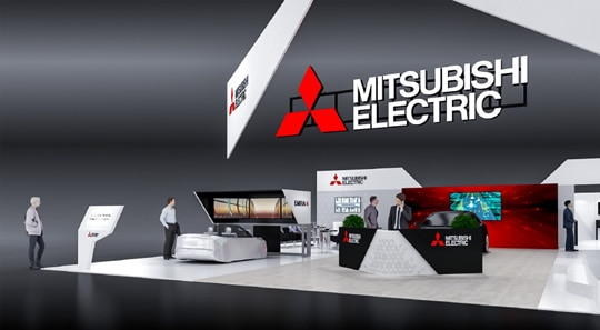 Rendition of Mitsubishi Electric's CES 2019 booth